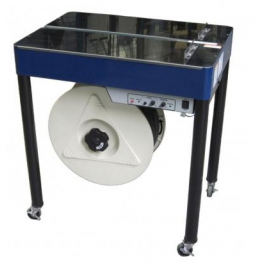 Semiautomatic strapping table