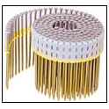 Plastic coiled coil nail