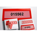 Inviolable tape and labels