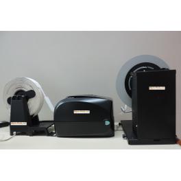 Impresora de etiquetas de corbata con rebobinador DGP7DNr