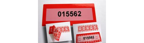 Burglar metal seals, plastics and adhesives